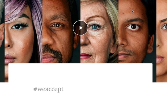 Airbnb's #weaccept campaign