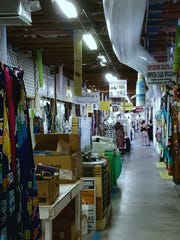 Many shops at the Flamingo Island Flea Market have
