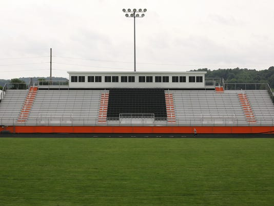 construction at Ridgewood High School stadium