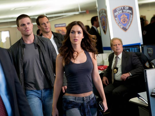 "Stephen Amell, Will Arnett and Megan Fox are seen in ""Teenage Mutant Ninja Turtles: Out of the Shadows."""
