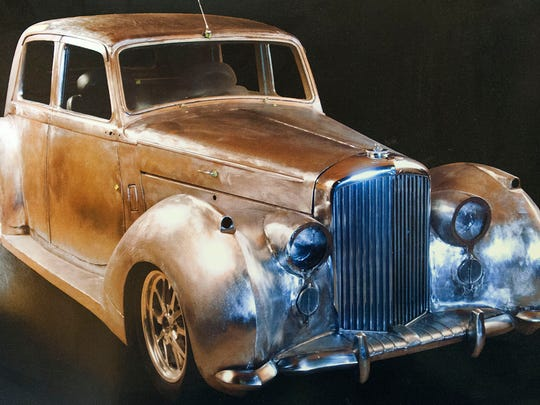 In addition to making jewelry for the last 13 years, Irby is building this 1948 Bentley.