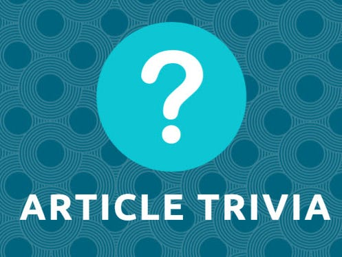 Test your news knowledge for a chance to win a $25 gift card.