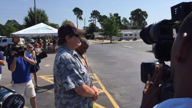 Ted Nugent talked to reporters while visiting the crime scene Saturday morning.
