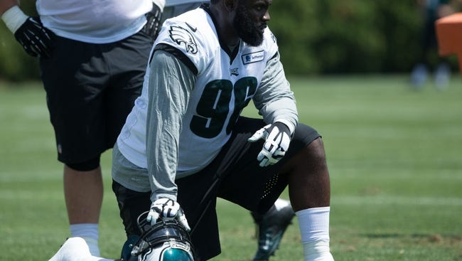 Defensive tackle Bennie Logan is one of four starters on defense who won't be returning to the Eagles in 2017.