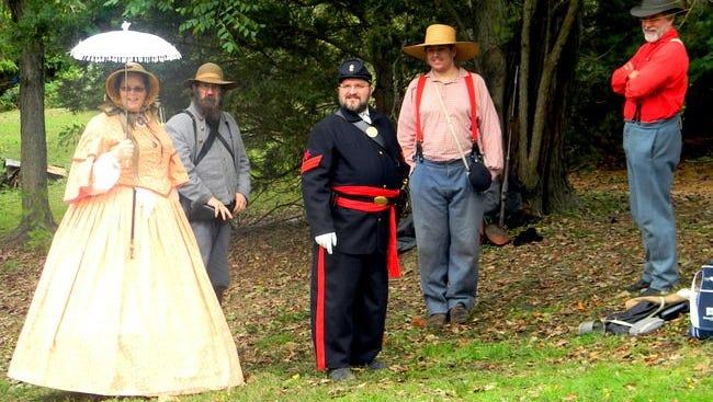 Civil War reenacments at a previous fall festival  in Mullica Hill.