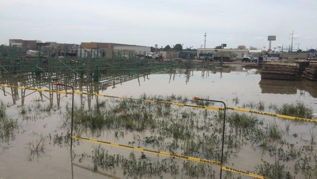 Water line break near the Costco development