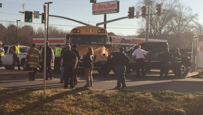 Sixteen students from Scott Middle School are being transported to a local hospital following a bus crash at the intersection of Cameron and Westgate streets in Scott.