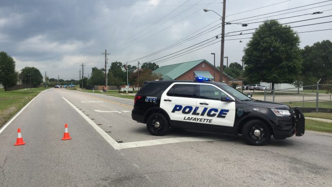 LPD car blocks off a section of Willow Street after a juvenile pedestrian was hit by a car Friday afternoon