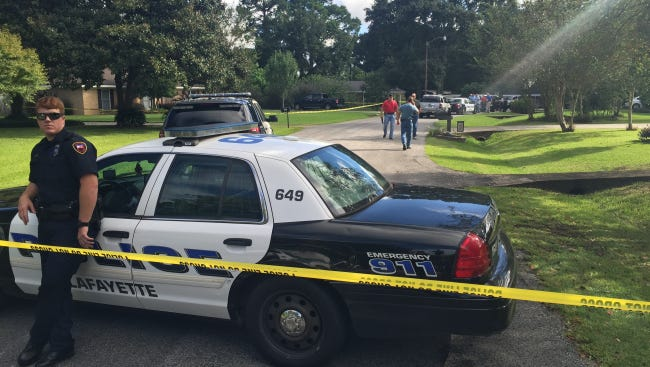Lafayette police investigate a shooting on Fanny Street in Lafayette Friday.