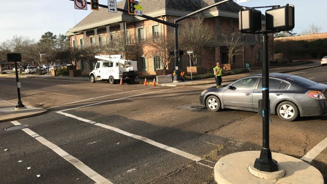 Minor injuries were reported in a two-vehicle crash at the intersection of Landry Street and Main Street Tuesday morning.