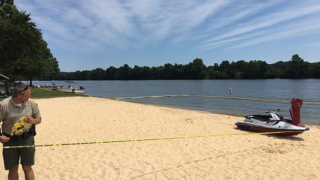 The Tennessee Wildlife Resource Agency responded to a report that swimmers were hit by a jet ski at Cheatham Lake after the driver lost control and fell off the vessel.