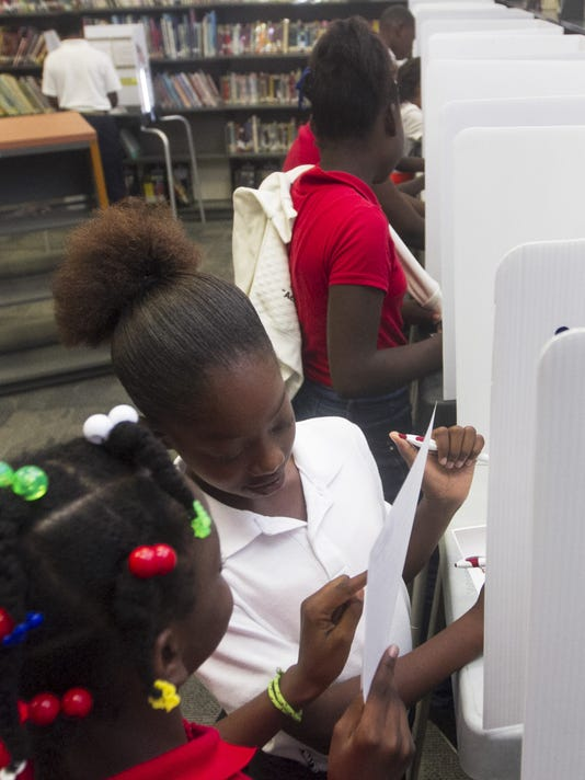 Mock election at Colonial Elementary