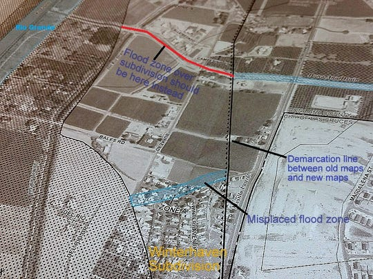 Some property owners in the Winterhaven Subdivision will be required to buy flood insurance at a cost of hundreds or thousands of dollars per year because of an error in mapping.