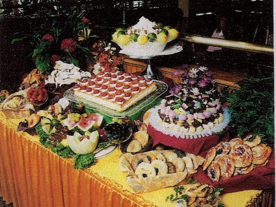 This image from promotional material shows the sweet table at Charlie Bubbles.