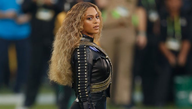 Beyonce performs during the Pepsi Super Bowl 50 Halftime Show at Levi's Stadium on Feb. 7 in Santa Clara, Calif.
