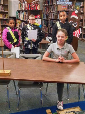Members of the Atkinson Elementary Safety Patrol appeared on school morning video announcements.