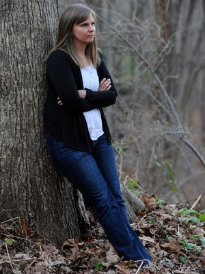 Alissa Parker, photographed at home in Newtown, Connecticut, on Nov. 20, 2013, lost her 6-year-old daughter Emilie in the Newtown school shooting. She is now spearheading a project to eliminate school violence called Safe and Sound.