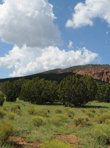 Red Mountain northwest of Flagstaff is an extinct cinder-cone volcano.