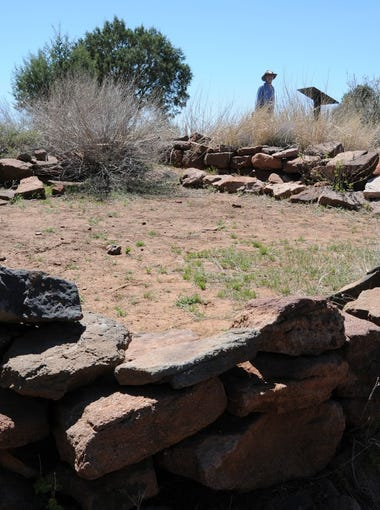 An excavated room at Shoofly Village, a Native American site north of Payson.