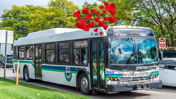 In the spirit of Valentine's Day, we decided to share five things we love most about public transportation.