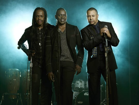 Earth Wind & Fire members, from left, Verdine White,