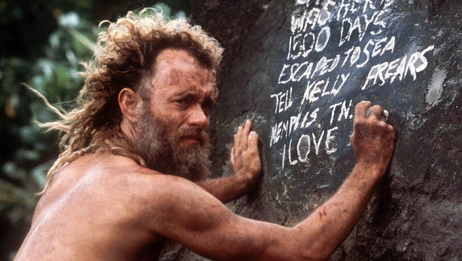 """In """"Cast Away,"""" Tom Hanks plays a man who is isolated on a remote island."""
