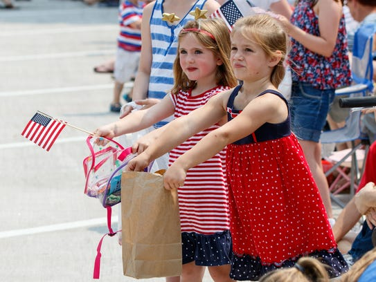 Youngsters (from left) Mary Kloth, 10, Kate Hansen,