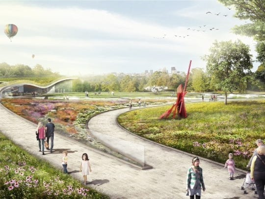 An artist's conception of the planned Waterfront Botanical