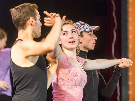 The Clear Space Theatre Company rehearses Chicago at