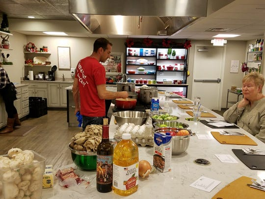 One more great gift idea - a cooking class from Thyme in the Kitchen. Here Scott Schymik from Sauced prepares a fabulous Italian dinner.