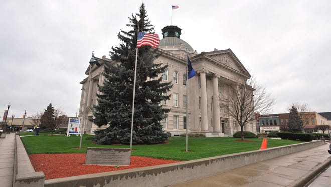 Southwest corner view of the Boone County Courthouse in Lebanon, Ind., October 30, 2012.  Joe Vitti / The Star