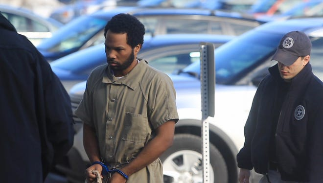 Mendeecees Harris heads into federal court in Rochester on March 8, 2013, for an initial appearance on drug trafficking charges. His brother was sentenced Monday to five years in prison.