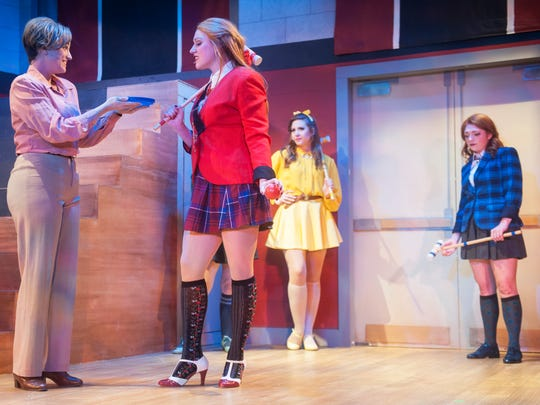 Cast members of 'Heathers: The Musical' perform a dress