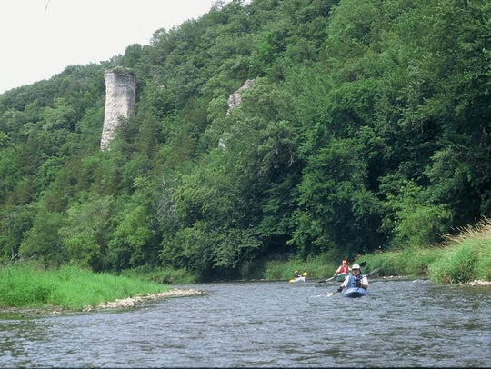 The bluffs of the Upper Iowa River in northeast Iowa