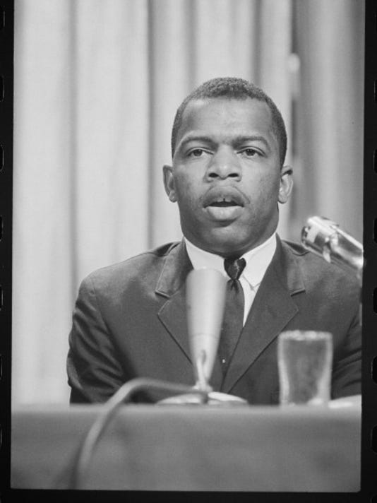 John Lewis Speaks At Statler Hilton Hotel