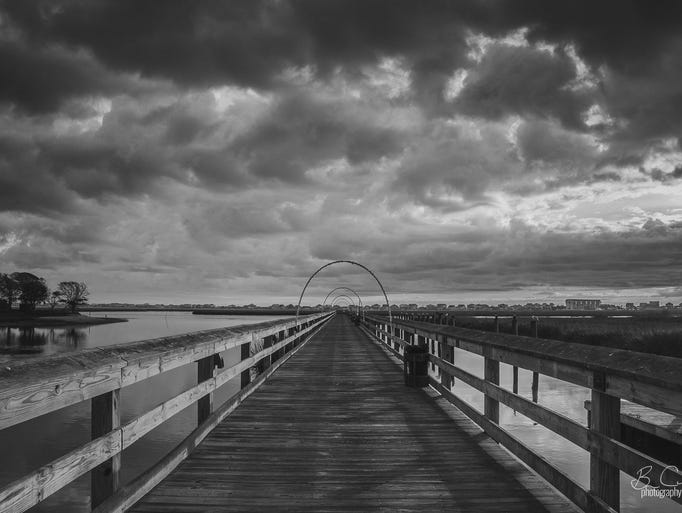 Clouds roll in from the Atlantic over Murrells Inlet,