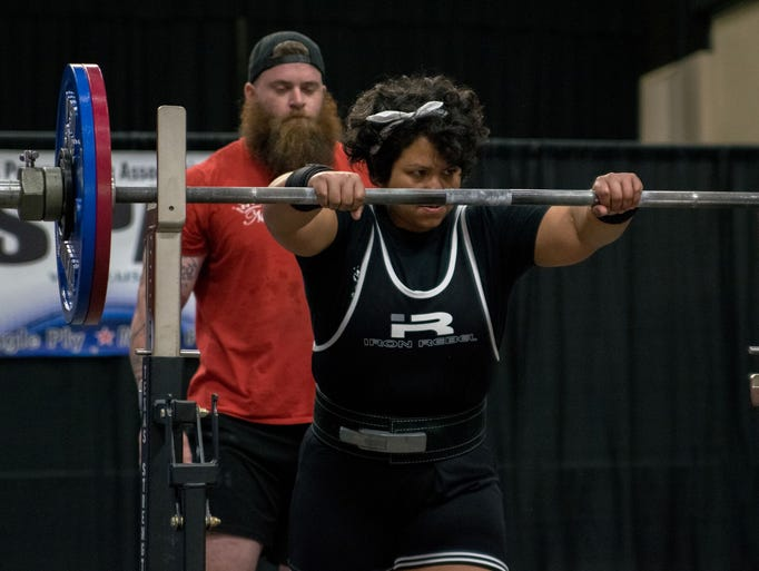 Persephonie Vigil, a powerlifting lady with Guam roots,