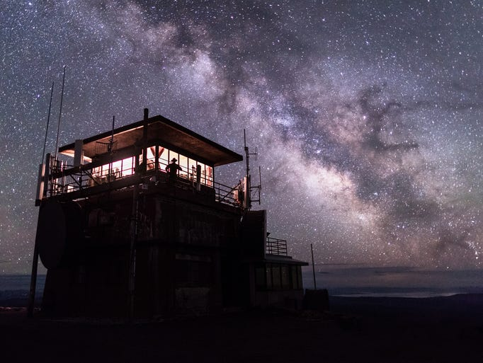 Washburn Fire Lookout under the Milky Way in Yellowstone