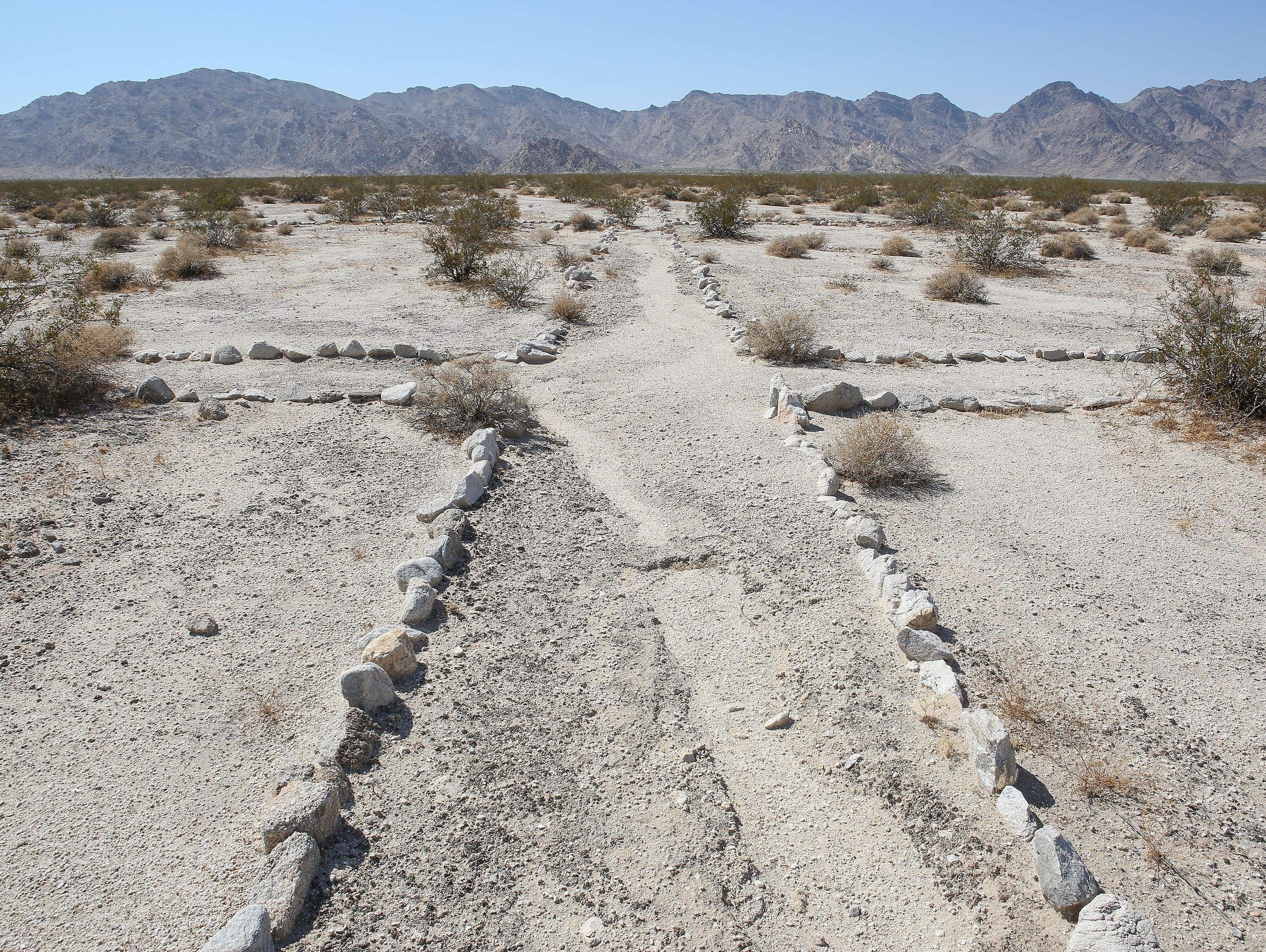 Paths between tents were marked with stones at Camp