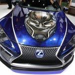 Detroit auto show photos: Black Panther Inspired Lexus LC concept