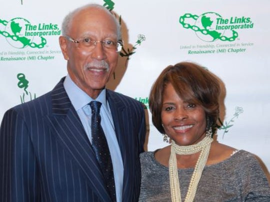 Former Detroit Mayor Dave Bing and wife, Yvette attended Winter Soulstice.