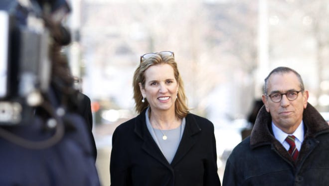 Kerry Kennedy arrives Feb. 24, 2014, at a courthouse for her drugged-driving trial in White Plains, N.Y.