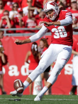 Redshirt sophomore P.J. Rosowski has recorded touchbacks on 62.9% of his kickoffs (34 of 54) this season for Wisconsin, the second best mark in the Big Ten.