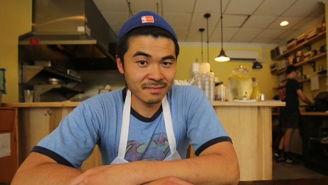 Chef Alex Sze was photographed in his restaurant at Tacos on Hudson in Hastings on  July 7, 2016.