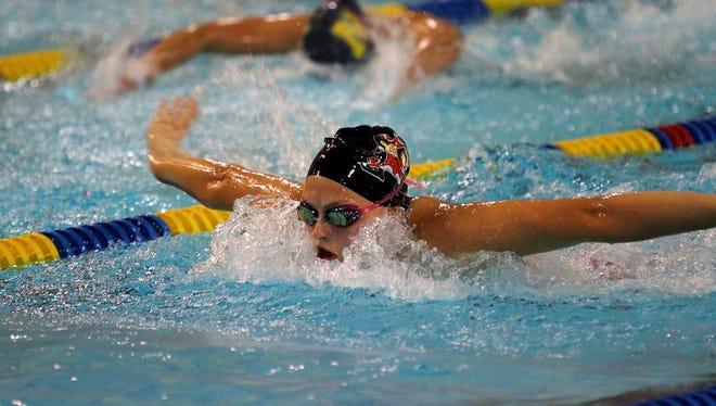 Pulaski senior Corrin Van Lanen has committed to swim at Ohio.