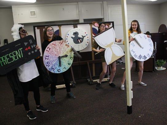Vestal High School's Odyssey of the Mind world qualifying