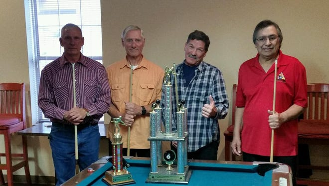 Friendship Pool Tournament was held at the Elks Club on Nov 28, 2015. Taking first place were Ed Chavez and Larry Torres from the Eagles. Second place winners were Skip Ramussea and John Andre from the Elks.
