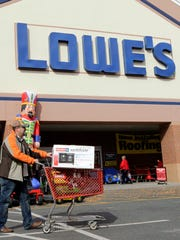 A Lowe's store in the Charlotte suburb of Matthews.