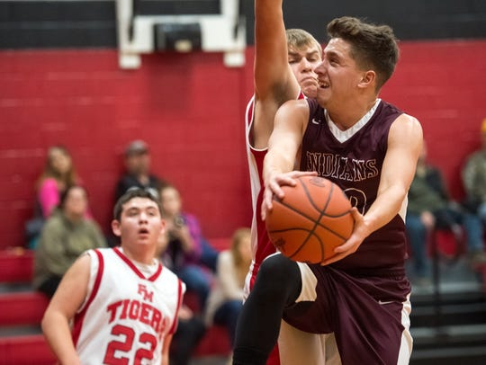 Southern Fulton's Austin Schriever (20) drives to the
