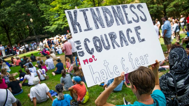 A kindness rally in Knoxville, Tenn., on Aug. 26, 2017.